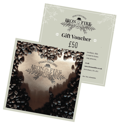 iron & fire gift voucher for coffee enthusiasts
