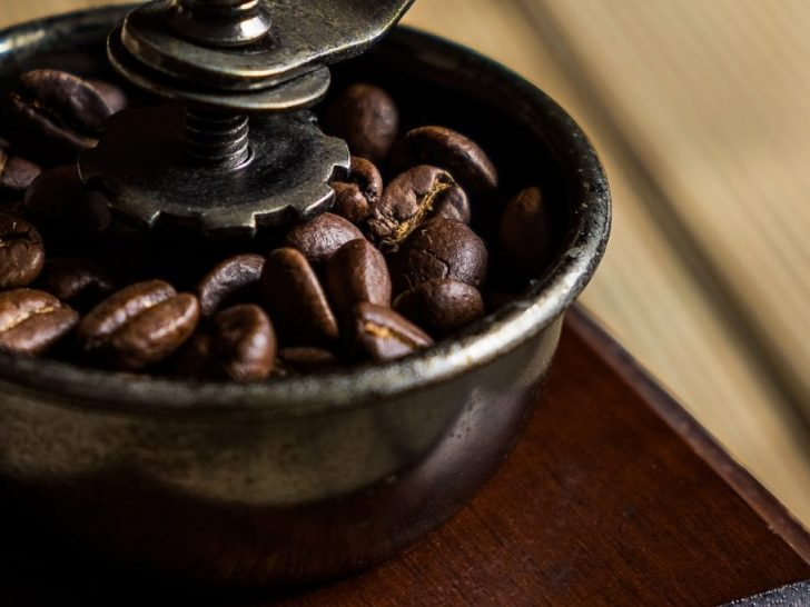 Image of coffee being grinded.